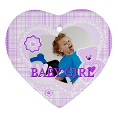 Baby By Jacob   Heart Ornament (two Sides)   4fhb74lfxxzv   Www Artscow Com Front