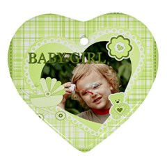 Baby By Jacob   Heart Ornament (two Sides)   Ks2e0i94097g   Www Artscow Com Front