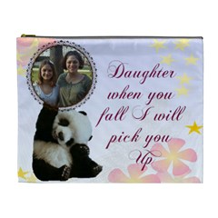 Daughter Cosmetic Bag (xl) By Kim Blair   Cosmetic Bag (xl)   9lwrhji603ld   Www Artscow Com Front
