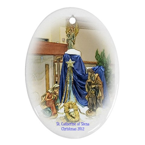 Scos Ornament 2012 By Chris   Ornament (oval)   Jhkk9ddw9h8q   Www Artscow Com Front