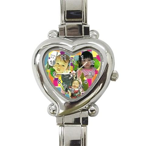 1 By Kawa   Heart Italian Charm Watch   Y7dojq1otjov   Www Artscow Com Front