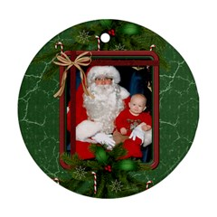 Green Christmas Round Ornament (2 Sides) By Lil    Round Ornament (two Sides)   Yvpfs0ia64le   Www Artscow Com Front