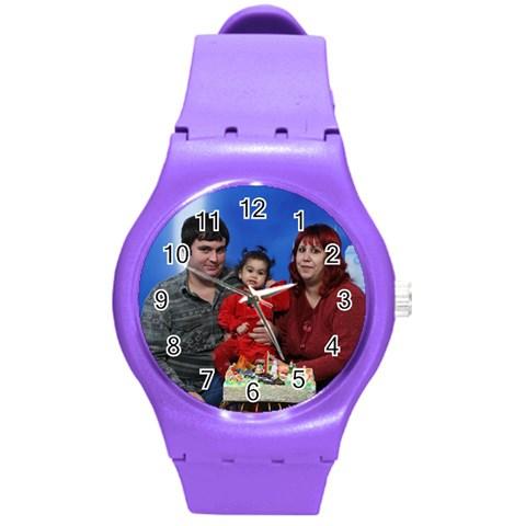 Presi By Maria Georgieva   Round Plastic Sport Watch (m)   B1xj1tic7t0r   Www Artscow Com Front