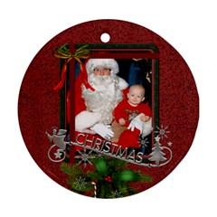 Red Christmas Round Ornament (2 Sides) By Lil    Round Ornament (two Sides)   P5yxrt58931e   Www Artscow Com Back