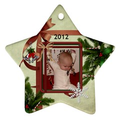 2012 Star Ornament (2 Sides) By Lil    Star Ornament (two Sides)   33v1srm2znag   Www Artscow Com Front