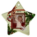2012 Star Ornament (2 Sides) - Star Ornament (Two Sides)