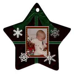 2012 Star Snowflake Ornament (2 Sides) By Lil    Star Ornament (two Sides)   L9hlf2gzhxs9   Www Artscow Com Back