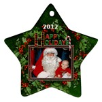 Happy Holidays Star Ornament (1 Sided) - Ornament (Star)