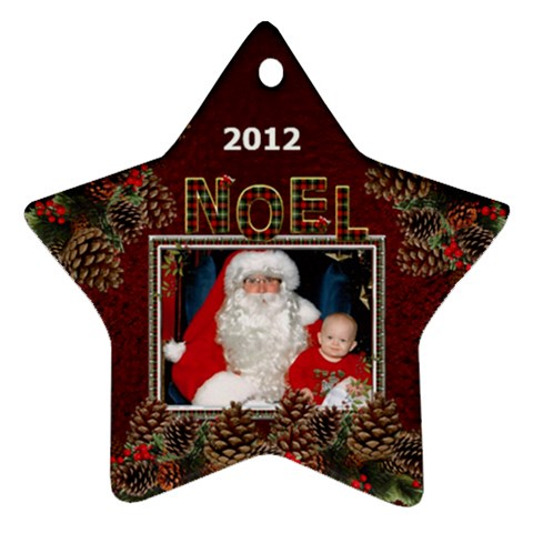 Noel Star Ornament (1 Sided) By Lil    Ornament (star)   06cx4pdkfbd5   Www Artscow Com Front