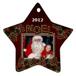 Noel Star Ornament (1 Sided) - Ornament (Star)