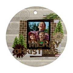 Xmas By Joely   Round Ornament (two Sides)   Ff8u7gzwhwk4   Www Artscow Com Back