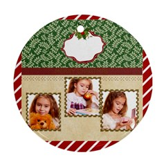 Xmas By Joely   Round Ornament (two Sides)   35tecz12py9a   Www Artscow Com Back