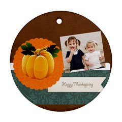 Fall By Joely   Round Ornament (two Sides)   Ynv5rz5jv6cc   Www Artscow Com Back