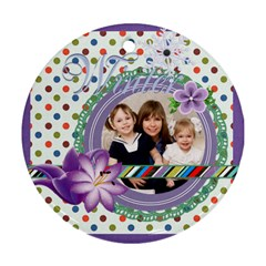 Xmas By Joely   Round Ornament (two Sides)   Hd2wvtabwede   Www Artscow Com Back