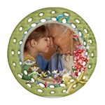 Love you grandma Round Ornament 2 sides - Round Filigree Ornament (Two Sides)