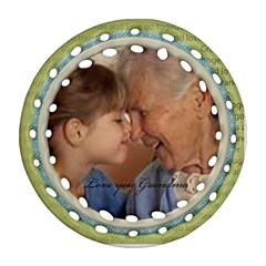 Love You Grandma Round Ornament 2 Sides By Snackpackgu   Round Filigree Ornament (two Sides)   P4svogkq6aet   Www Artscow Com Back
