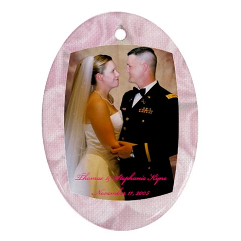 Our Wedding By Stephanie Kyne   Ornament (oval)   0yprxpwkjik0   Www Artscow Com Front