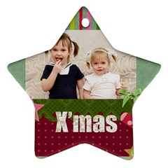 Xmas By Joely   Star Ornament (two Sides)   Ea3yd1ooa9d5   Www Artscow Com Front
