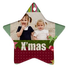 Xmas By Joely   Star Ornament (two Sides)   Ea3yd1ooa9d5   Www Artscow Com Back