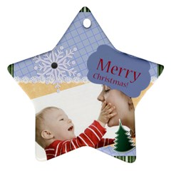 Xmas By Joely   Star Ornament (two Sides)   Ul702tg20tjc   Www Artscow Com Back