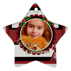Xmas By Joely   Star Ornament (two Sides)   D219hniaon5a   Www Artscow Com Back