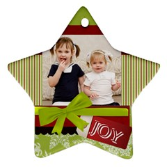 Xmas By Joely   Star Ornament (two Sides)   Cr6u3fuverba   Www Artscow Com Front
