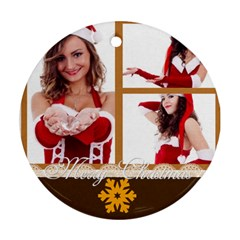 Xmas By Clince   Round Ornament (two Sides)   Cecxy3x03lcz   Www Artscow Com Back
