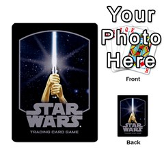 Star Wars Tcg X By Jaume Salva I Lara   Multi Purpose Cards (rectangle)   Vegj9py9njp2   Www Artscow Com Back 9
