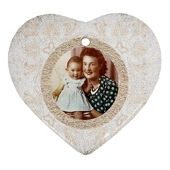 Auntie Carol By Cara Blondeau   Heart Ornament (two Sides)   Ddprwagfzqga   Www Artscow Com Back