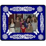 Family Portrait Fleece Blanket (Medium)