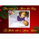 For unto us Photo Christmas Card 5 x 7 - 5  x 7  Photo Cards