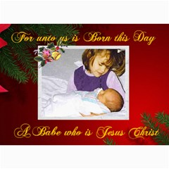 For Unto Us Photo Christmas Card 5 X 7 By Kim Blair   5  X 7  Photo Cards   116t4193r83l   Www Artscow Com 7 x5 Photo Card - 4