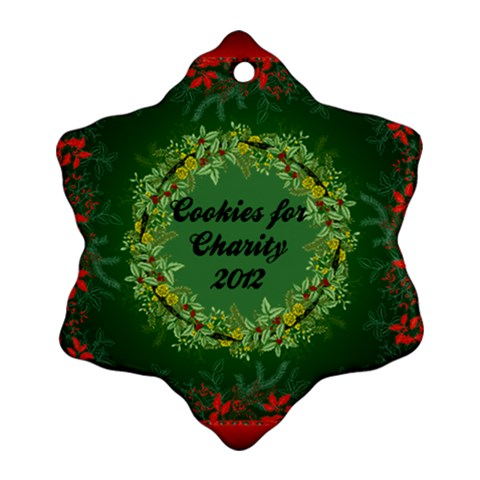 Cookies For Charity By Ericka   Ornament (snowflake)   Elg3rdwzs8sf   Www Artscow Com Front