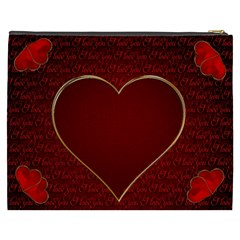 Romantic I Love You By Radu   Cosmetic Bag (xxxl)   27gy2xl6b3ac   Www Artscow Com Back