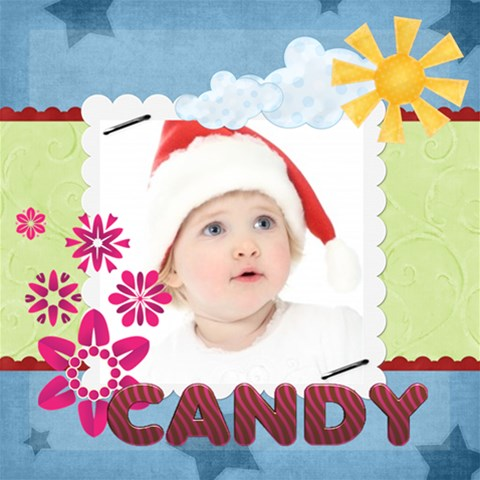 Candy By Jo Jo   Scrapbook Page 12  X 12    A4914ng9fy00   Www Artscow Com 12 x12  Scrapbook Page - 1