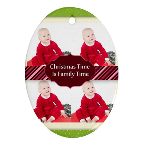 Xmas By May   Ornament (oval)   Juvdoq0jy7lg   Www Artscow Com Front