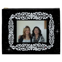 Black And White Framed Cosmetic Bag (xxxl) 2 Sides By Kim Blair   Cosmetic Bag (xxxl)   Qzat0y6rvyxo   Www Artscow Com Front