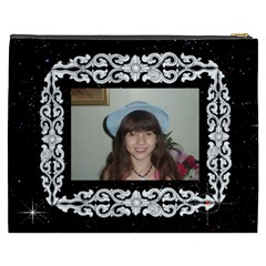 Black And White Framed Cosmetic Bag (xxxl) 2 Sides By Kim Blair   Cosmetic Bag (xxxl)   Qzat0y6rvyxo   Www Artscow Com Back