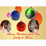 Christmas Ornament Photo card 5 x 7 - 5  x 7  Photo Cards
