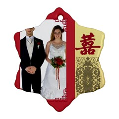 Wedding By Jo Jo   Snowflake Ornament (two Sides)   T9kyqdfz2vyn   Www Artscow Com Front