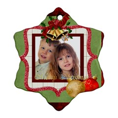 Xmas By Jo Jo   Snowflake Ornament (two Sides)   I583npi5w7rd   Www Artscow Com Back