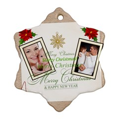Xmas By Jo Jo   Snowflake Ornament (two Sides)   C9tfo002uzqe   Www Artscow Com Back