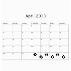 Cuby 2013 By Amanda   Wall Calendar 11  X 8 5  (12 Months)   Rhlf2514svqf   Www Artscow Com Apr 2013