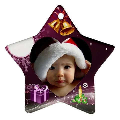Christmas By Joanne5   Ornament (star)   J2zxk6l991gt   Www Artscow Com Front