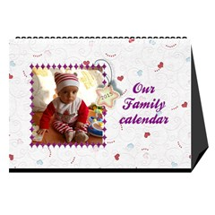 Our Family Desktop Calendar White 2013 By Daniela   Desktop Calendar 8 5  X 6    Gddpqglr9bdq   Www Artscow Com Cover