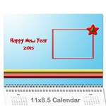 Happy New Year 2013 - calendar 12m - Wall Calendar 11  x 8.5  (12-Months)