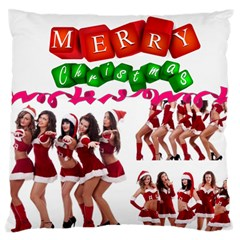 Christmas By Angena Jolin   Large Cushion Case (two Sides)   Yakwxb3sai95   Www Artscow Com Front