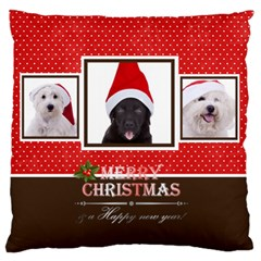 Christmas By Angena Jolin   Large Cushion Case (two Sides)   Ztptu5s7ikto   Www Artscow Com Front