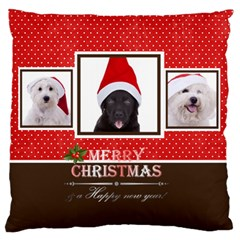Christmas By Angena Jolin   Large Cushion Case (two Sides)   Ztptu5s7ikto   Www Artscow Com Back