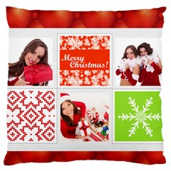 Christmas By Angena Jolin   Large Cushion Case (two Sides)   Nmo1fzj8uba9   Www Artscow Com Back